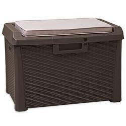 Сундук пластиковый Santorini Plus 125 л коричневый с подушкой Toomax