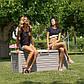Сундук пластиковый Florida 550 л теплый серый Toomax, фото 6