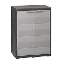 Шкаф низкий 2-х дверный Elegance S Toomax черный серый