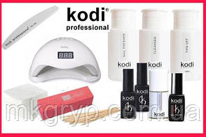 Стартовый набор гель лаков Kodi  c UV LED лампа SUN5 48 Вт. № 16