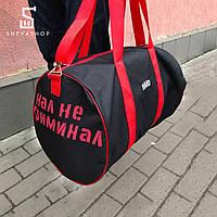 Спортивная сумка HARD Жесть черная