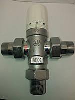 """Смешивающий трехходовой кран с термостатической головкой 3/4"""" 30-60С"""