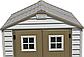 Сарай пластиковый Storemaxx 209x206x234 см слоновая кость, коричневая крыша, фото 4