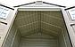 Сарай пластиковый Storemaxx 209x206x234 см слоновая кость, коричневая крыша, фото 6