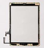 Тачскрин / сенсор (сенсорное стекло) для Apple iPad Air | iPad 5 (черный цвет, с кнопкой Home, самоклейка), фото 2