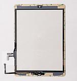 Тачскрин / сенсор (сенсорное стекло) для Apple iPad Air | iPad 5 (белый цвет, с кнопкой Home, самоклейка), фото 2