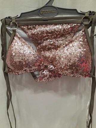 Купальник шторка Супер 5688 розовое золото на наш 46 48  размер. , фото 2