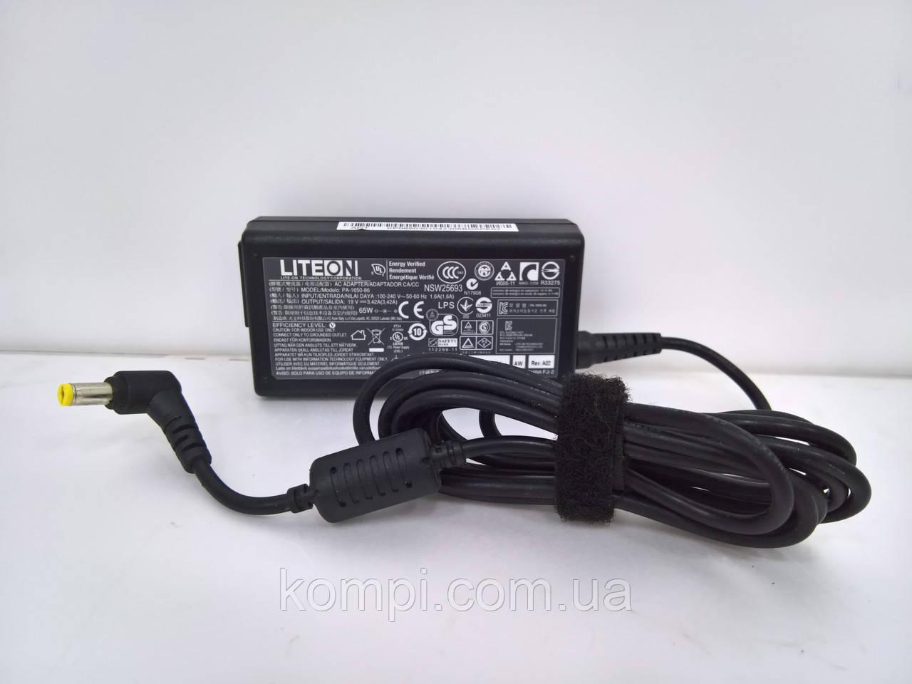 Зарядний пристрій до ноутбука Liteon 19v 3.42a штекер на 5.5x1.7  Оригінал !