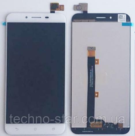 Оригинальный дисплей (модуль) + тачскрин (сенсор) для Asus Zenfone 3 Max ZC553KL (белый цвет)