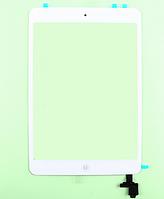 Тачскрин / сенсор (сенсорное стекло) для Apple iPad mini | iPad mini 2 (белый, с микросхемой, с кнопкой Home)