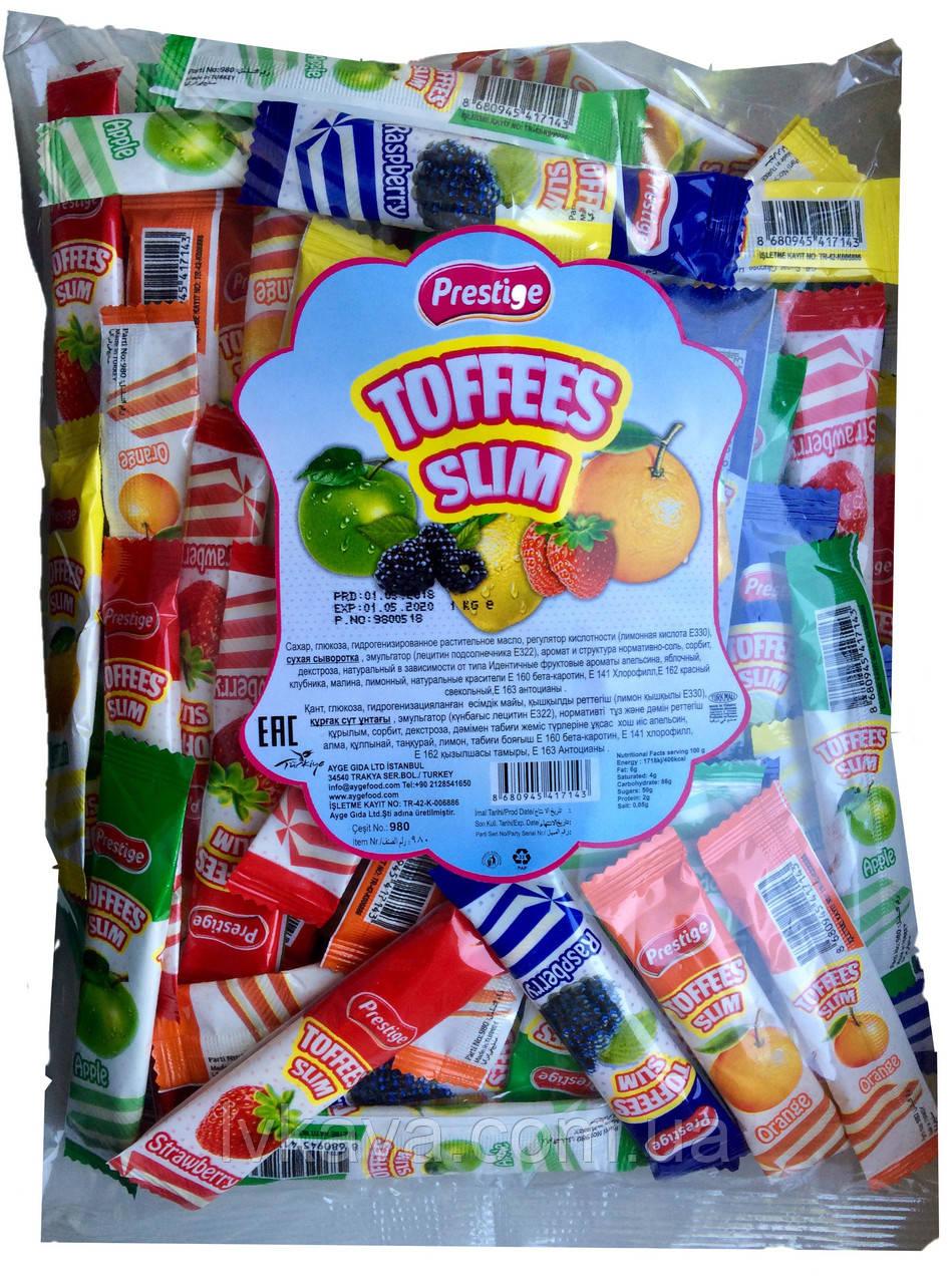 Жувальні цукерки Toffees Slim Prestige , 1000 гр
