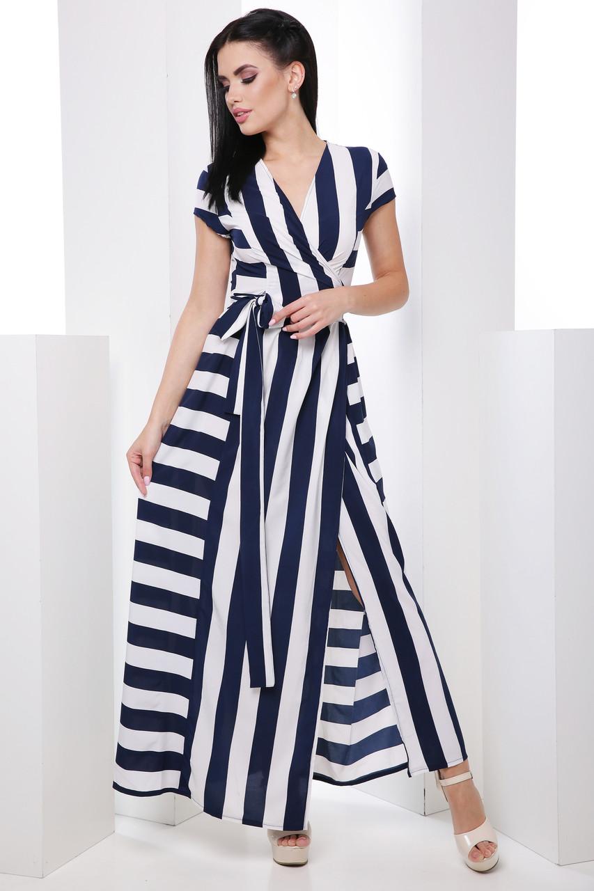 6f8166d211a Длинное легкое платье с двубортным запахом и разрезами 7059 2 - My Oazis в  Харькове