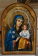 Икона Богородицы Неувядаемый цвет писаная маслом на доске, фото 1
