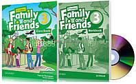 Английский язык   Family and Friends   Class+Workbook+DVD. Учебник+Тетрадь, 3   Oxford