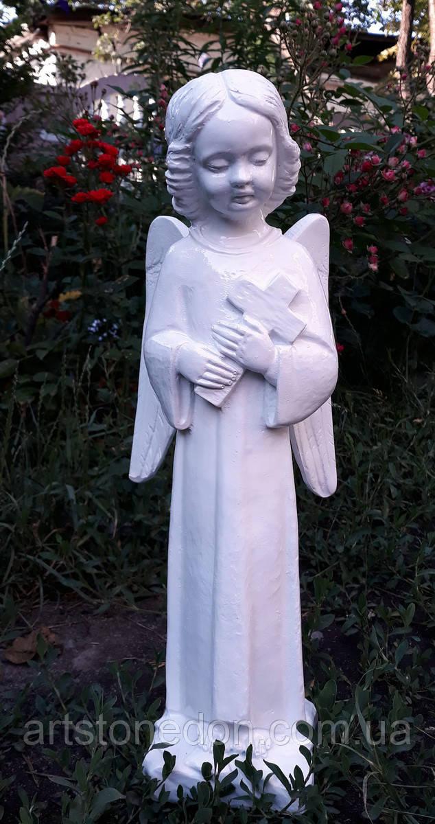 Надгробия скульптуры. Скульптура из полимера Скорбящий Ангел 47 см