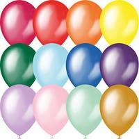 """Воздушные шары 9""""(23см) Металлик+Перламутр Ассорти. В упак: 100 шт. Пр-во:""""Latex Occidental""""(Мексика)"""