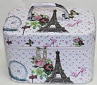 Косметичка-чемоданчик, среднего размера, Эйфелева башня, фото 1