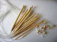 Набор бамбуковых крючков для тунисского вязания, 12 штук