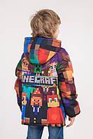 """Куртка весна-осень с принтом """"Minecraft"""", р134"""