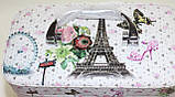 Маленькая косметичка-чемоданчик, Эйфелева башня, фото 2