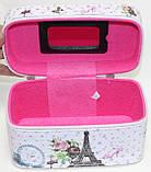 Маленькая косметичка-чемоданчик, Эйфелева башня, фото 5