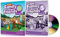 Английский язык   Family and Friends   Class+Workbook+DVD. Учебник+Тетрадь, 5   Oxford