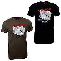 100% Оригинал Мужская футболка Vision Street Wear 100%хлопок для активного отдыха и спорта