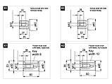Hidrocel 2PM 63 куб.с ISO Моторы с изогнутой осью ( Шлицевой /Шпоночный), фото 2