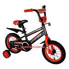 Детский велосипед Crosser Sports 12 дюймов серо-оранжевый, фото 2