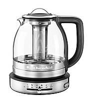 Чайник электрический стеклянный 1.5 л KitchenAid (ARTISAN 1.5 L Glass Tea Kettle 5KEK1322SS), фото 1