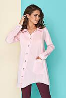 Блуза-рубашка  с ассиметричной застежкой-планкой, фото 1