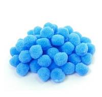 Голубые помпоны плюшевые 15 мм 500 шт/уп