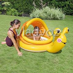 Детский надувной бассейн улитка Intex 57124