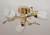"Современная люстра на 3 плафона в стиле ""флористика"" ..."