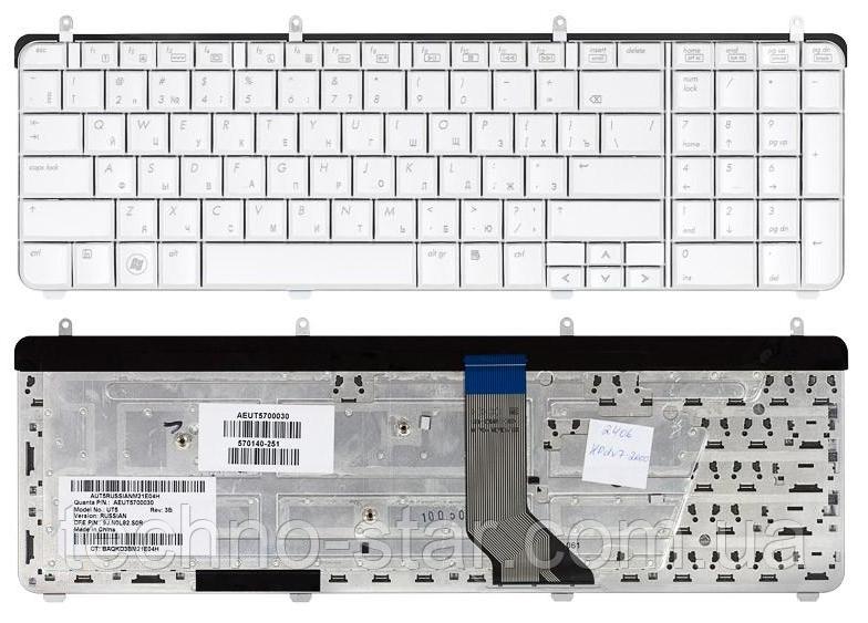 Клавіатура для ноутбука HP Pavilion DV7-2000 DV7t-2000 DV7-3000 DV7t-3000 (російська розкладка, білий колір)