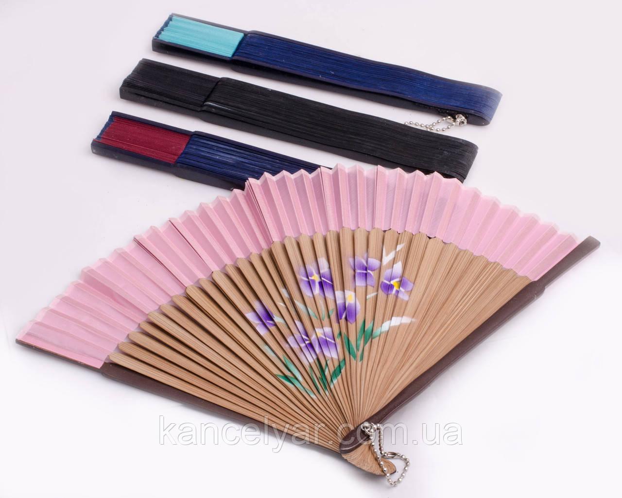 Веер бамбуковый тонкий, в ассортименте