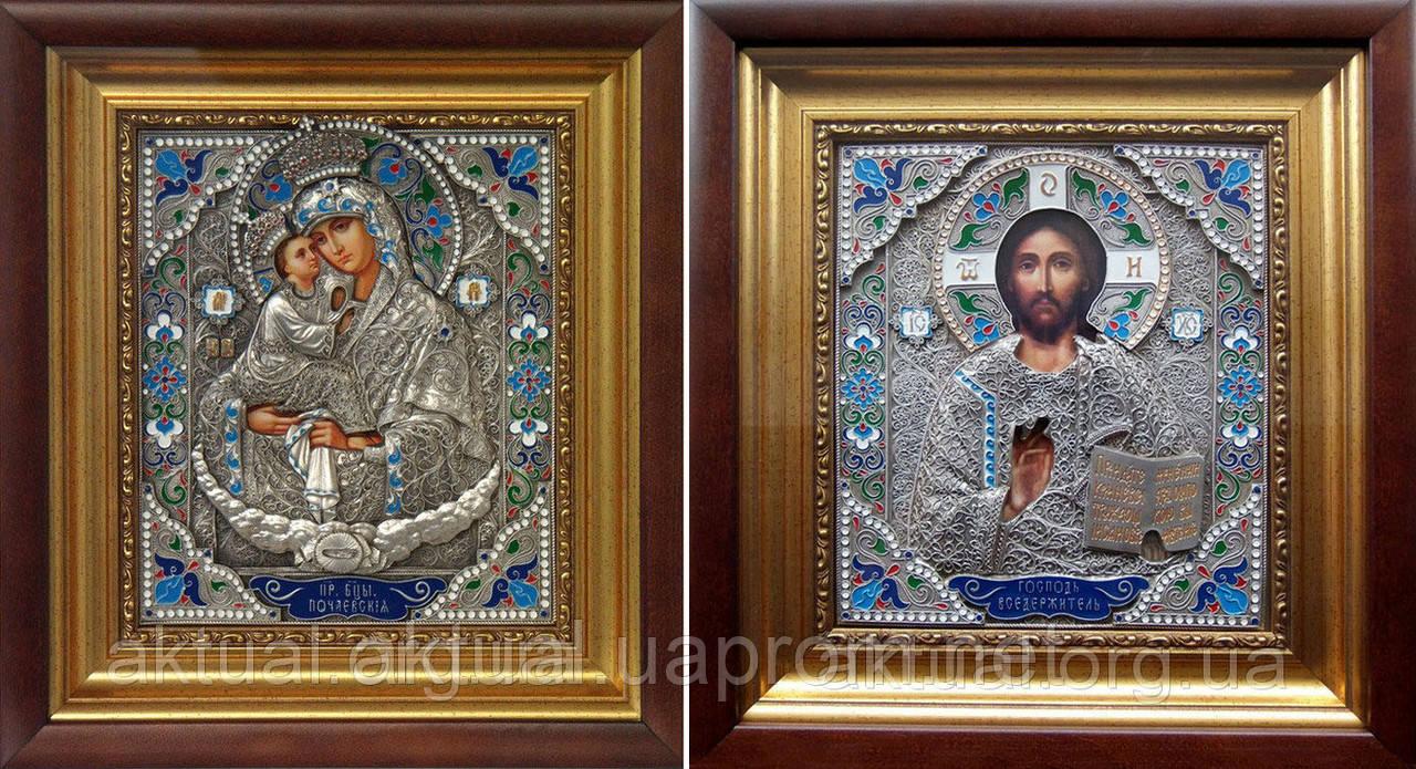 Венчальная пара икон Почаевская