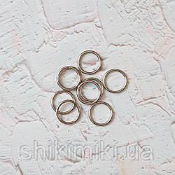Кольца металлические   средние  KL 20 (20 мм), цвет никель