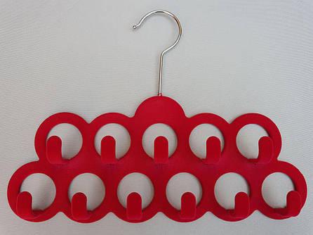 Плечики вешалки флокированные (бархатные) для аксессуаров розового цвета