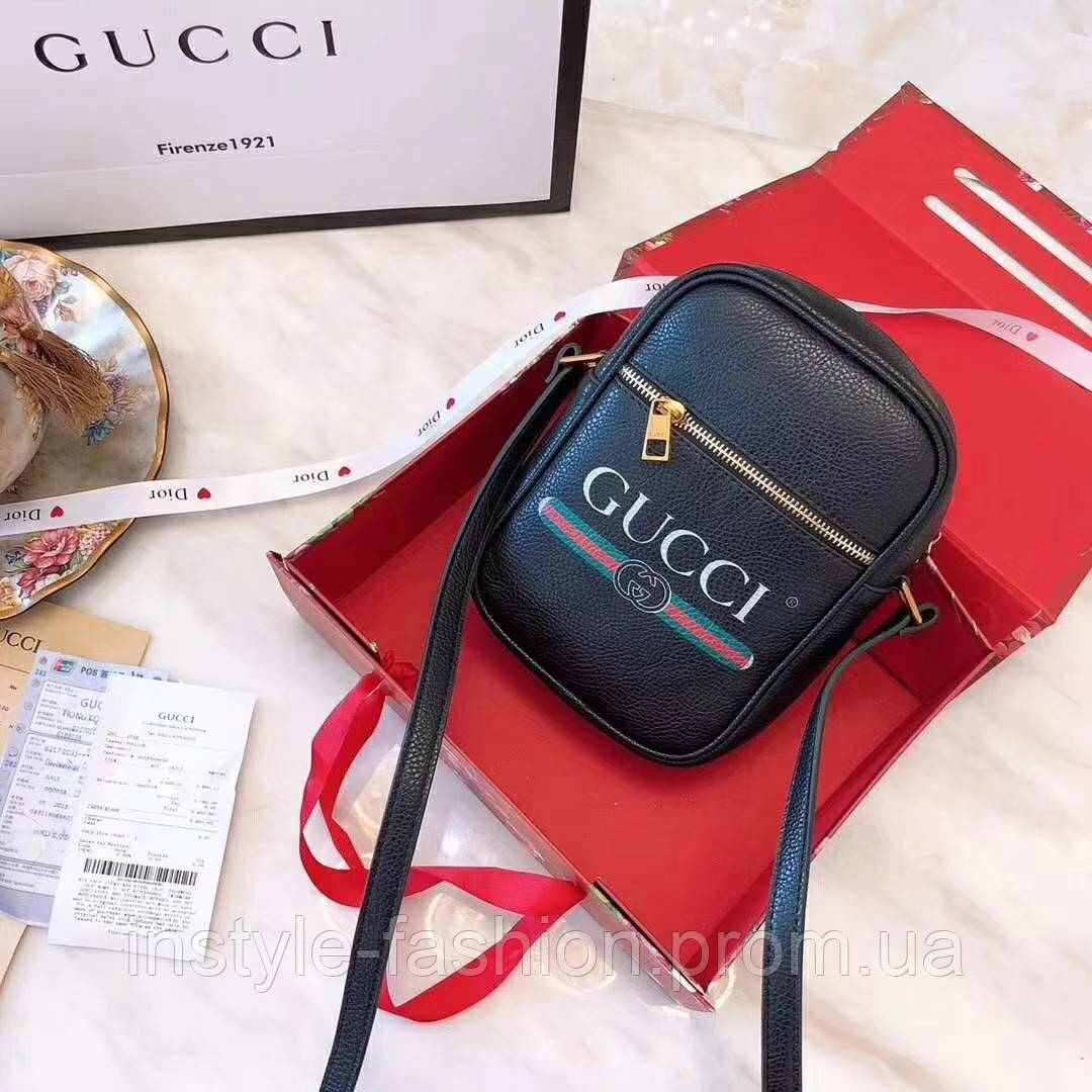 Сумка-клатч Gucci Гуччи женская черная  купить недорого копия ... 897dcd7388aca