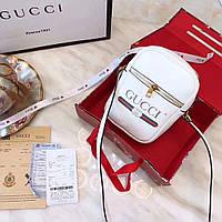 Сумка-клатч Gucci Гуччи женская белая, фото 1