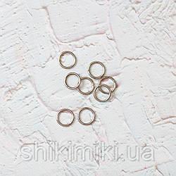 Кольца соединительные маленькие KL13-1 (13 мм), цвет никель