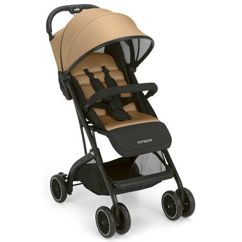 Прогулочная коляска COMPASS,  золотая с черным, фото 2