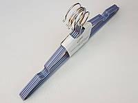 Плечики металлические в силиконовом покрытии серебристого цвета, 40,5 см, 5 штук в упаковке