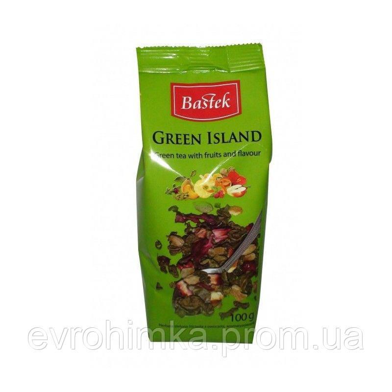 Чай зеленый Bastek Green Island необыкновенне фрукты, 100 гр