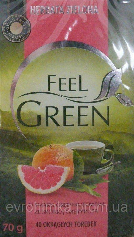 Чай зеленый Feel Green с грейпфрутом 40 пакетиков