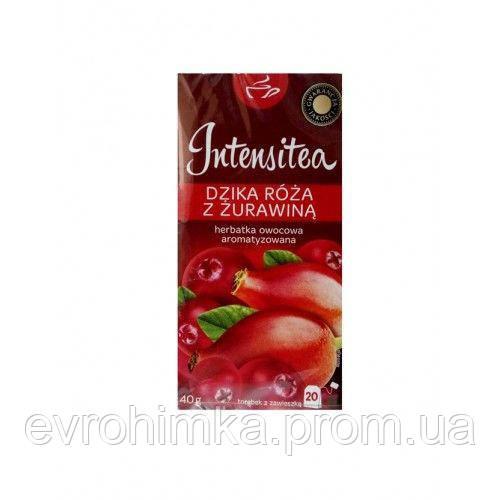 Чай фруктовый Intensitea со вкусом дикой  розы  и клюквы , 20 пак