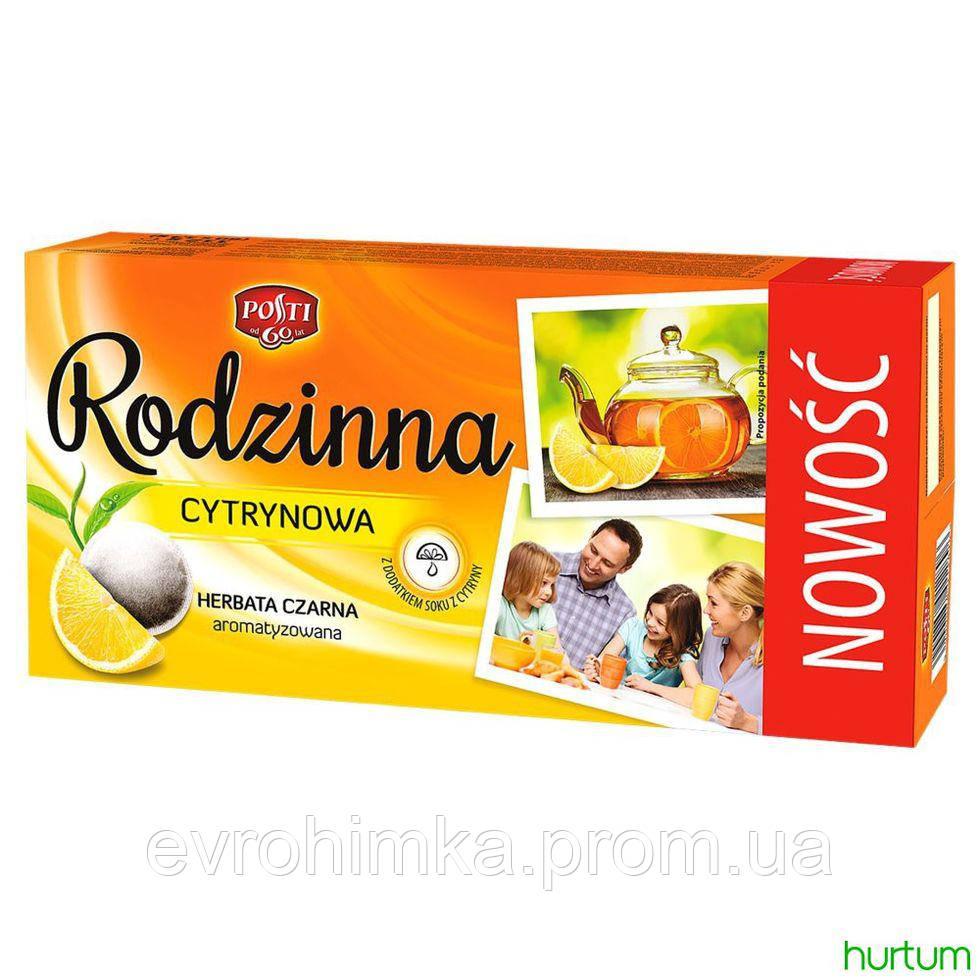 Чай черный Rodzinna cytrynowa 80 пакетиков