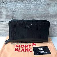 Кожаный клатч портмоне Mont Blanc два размера , фото 1