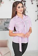 Рубашка Эрика сиреневая полоска, фото 1
